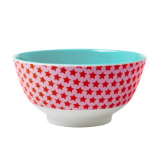 Girl Pink Star Melamine Bowl Blue Interior Rice DK